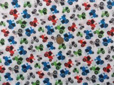 Tractor poly cotton fabric sold per metre